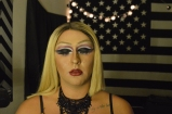Austin Evans preparing for his drag queen performance on March 30, 2017. Morgantown, WV. Photo by Amber Swinehart.