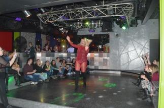 "Austin Evans, a.k.a. ""Sasha Shook,"" performing at Vice Versa in Morgantown, West Virginia. March 30, 2017. Photo by Amber Swinehart"