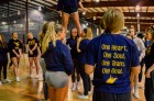 WVU Competitive Cheerleading Club Practice, Morgantown, West Virginia. February 28, 2017. Photo by Amber Swinehart.